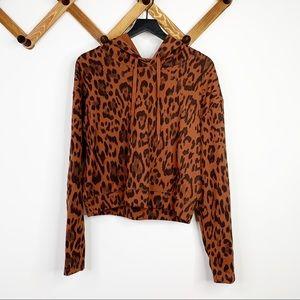 SOCIALITE leopard cropped sweatshirt✨L